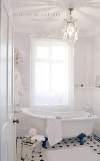 Romantic And Elegant Bathroom Design Ideas With Chandeliers 76
