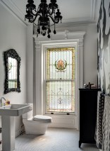 Romantic And Elegant Bathroom Design Ideas With Chandeliers 90