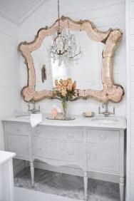 Romantic And Elegant Bathroom Design Ideas With Chandeliers 92