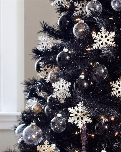 Unique And Unusual Black Christmas Tree Decoration Ideas 30