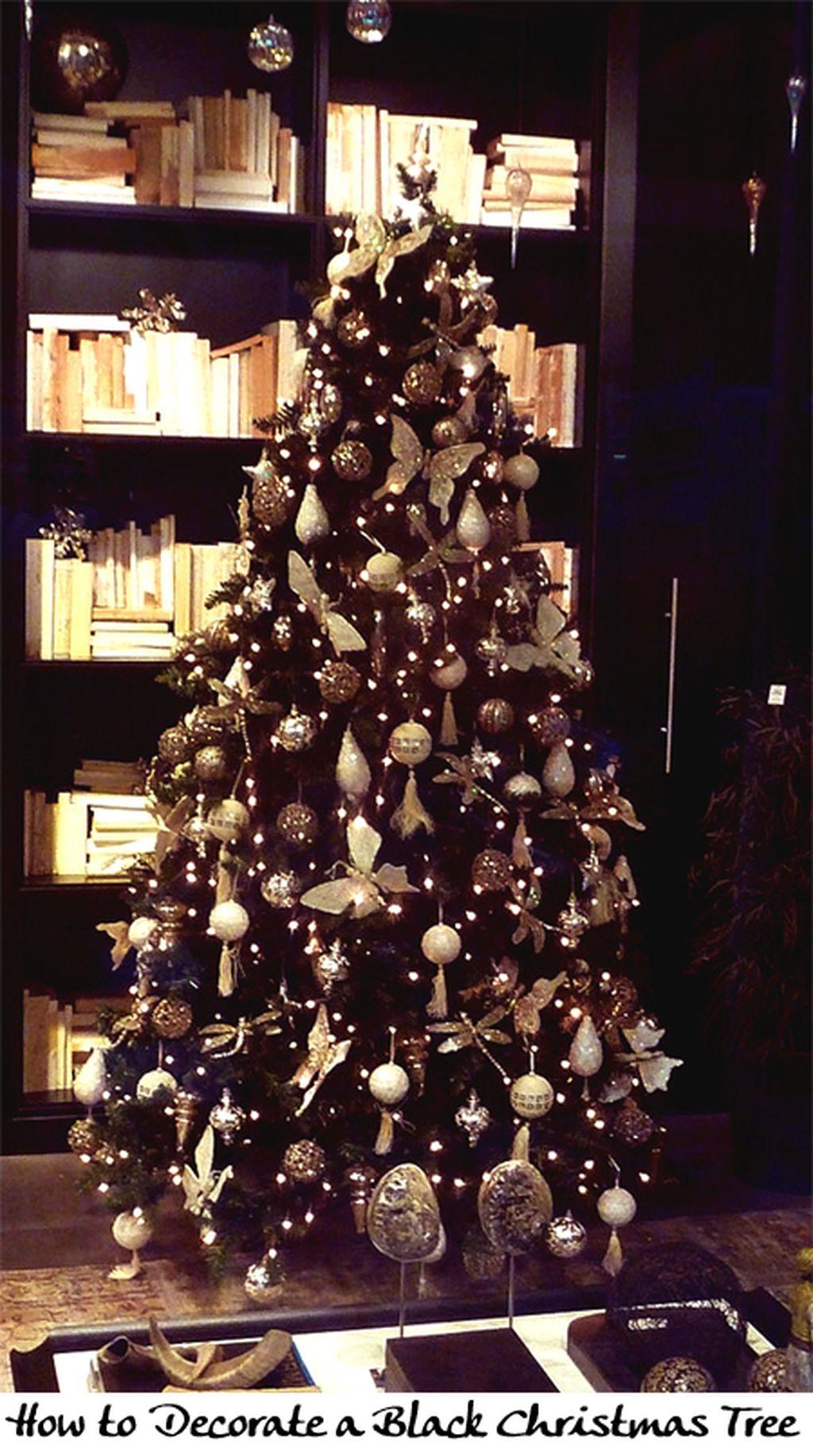 Unique And Unusual Black Christmas Tree Decoration Ideas 38