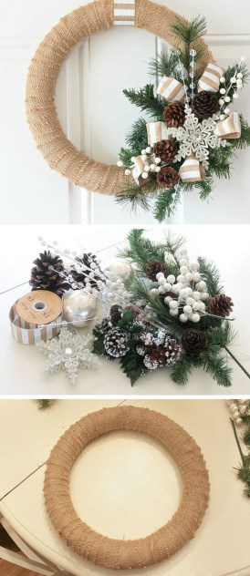 38 Stunning Christmas Front Door Decoration Ideas 34
