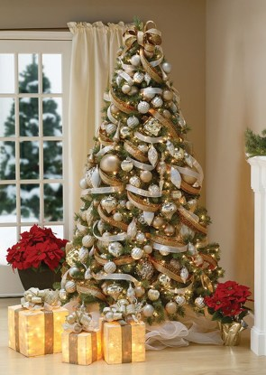 40 Ezciting Silver And White Christmas Tree Decoration Ideas 08