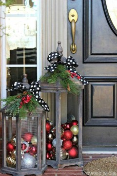 Beautiful Rustic Outdoor Christmas Decoration Ideas 08