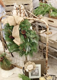 Beautiful Rustic Outdoor Christmas Decoration Ideas 11