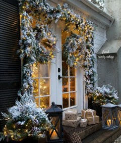 Beautiful Rustic Outdoor Christmas Decoration Ideas 34