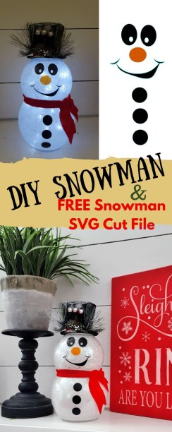 Cute And Cool Snowman Christmas Decoration Ideas 21