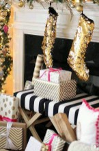 Gorgeous Pink And Gold Christmas Decoration Ideas 09