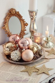 Gorgeous Pink And Gold Christmas Decoration Ideas 13