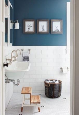 36 Cool Blue Bathroom Design Ideas 14