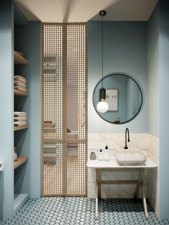 36 Cool Blue Bathroom Design Ideas 15