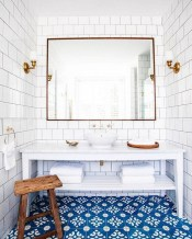 36 Cool Blue Bathroom Design Ideas 26