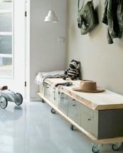 38 Brilliant Hallway Storage Decoration Ideas32