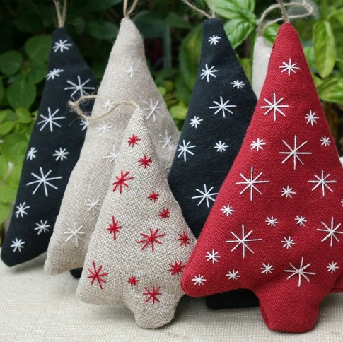 39 Brilliant Ideas How To Use Felt Ornaments For Christmas Tree Decoration 07