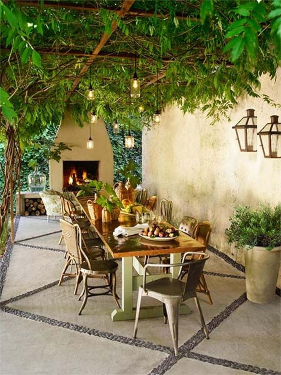 Adorable Outdoor Dining Area Furniture Ideas 13