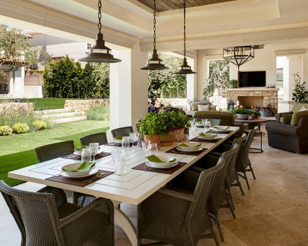 Adorable Outdoor Dining Area Furniture Ideas 15