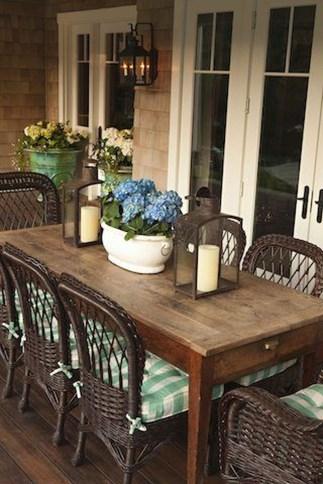Adorable Outdoor Dining Area Furniture Ideas 16