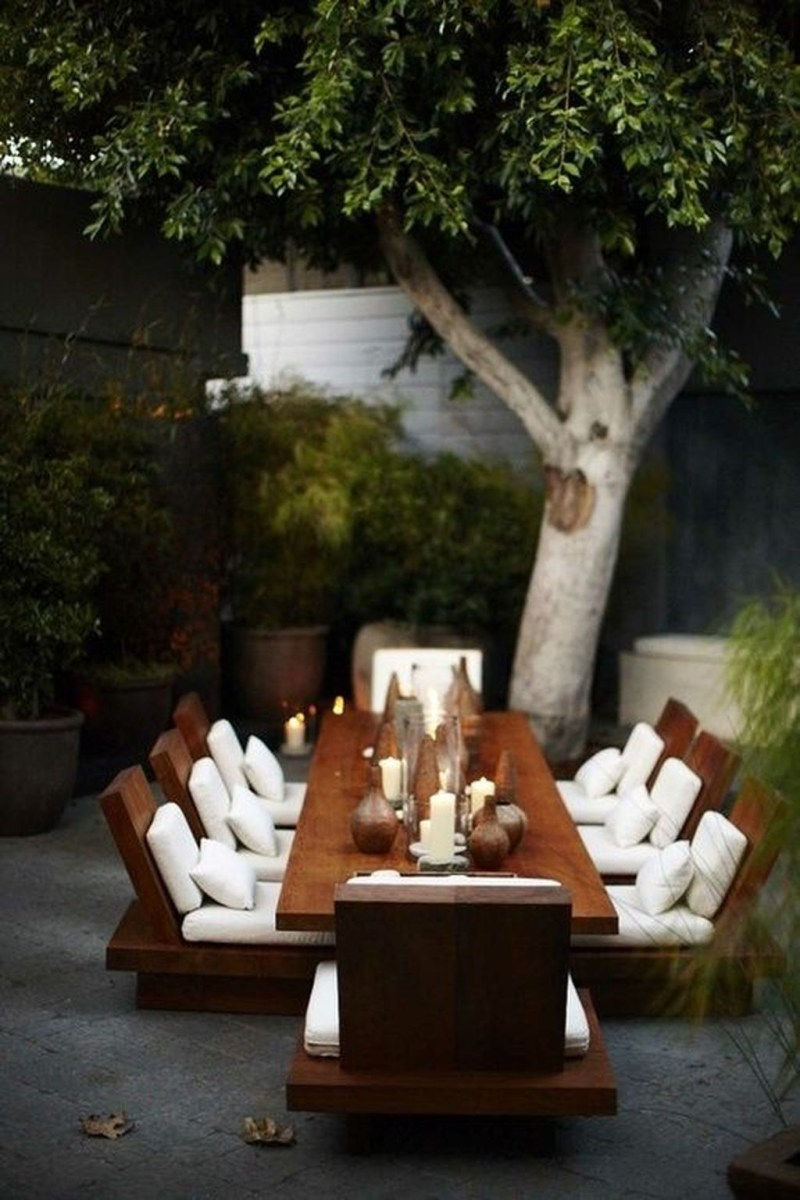 Adorable Outdoor Dining Area Furniture Ideas 20