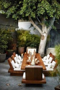 Adorable Outdoor Dining Area Furniture Ideas 24