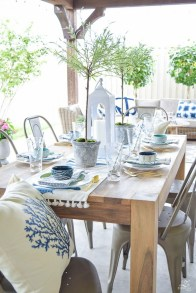 Adorable Outdoor Dining Area Furniture Ideas 28