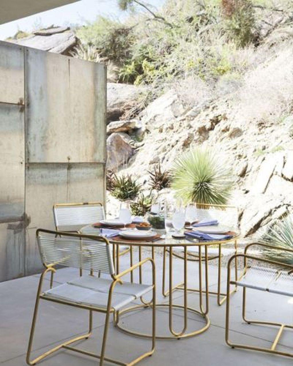 Adorable Outdoor Dining Area Furniture Ideas 34