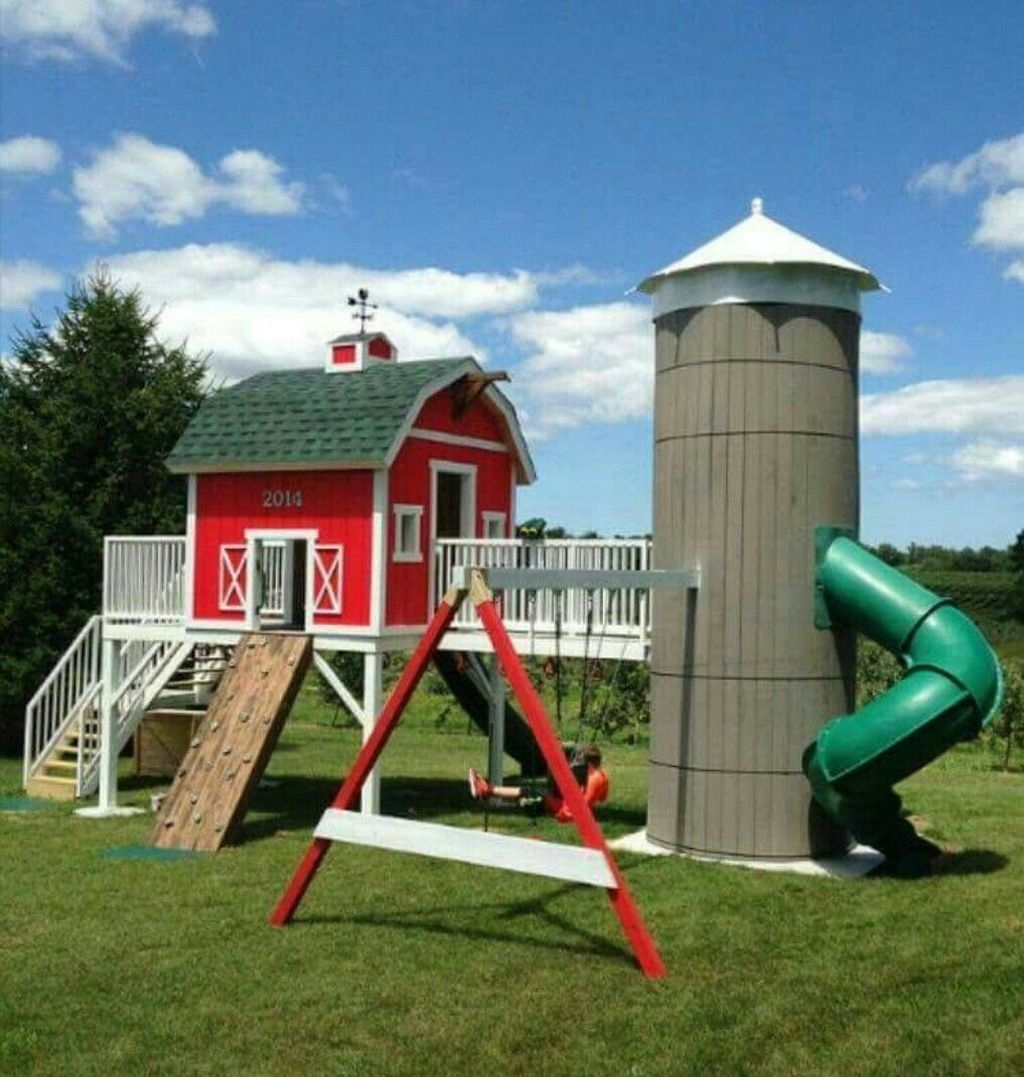 Awesome Outdoor Kids Playhouses That Youll Want To Live Yourself 05