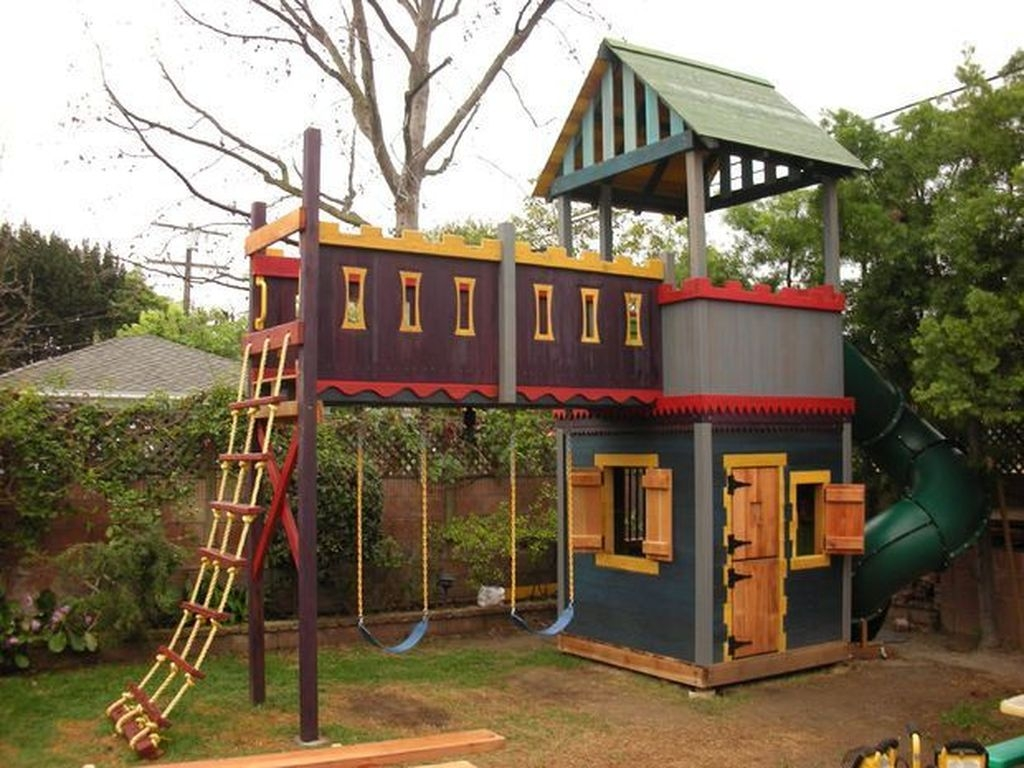 Awesome Outdoor Kids Playhouses That Youll Want To Live Yourself 37