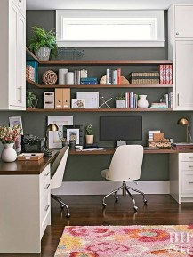 Colorful Home Office Design Ideas You Will Totally Love 11