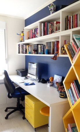 Colorful Home Office Design Ideas You Will Totally Love 20