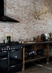 Elegant Rustic Bedroom Brick Wall Decoration Ideas 22