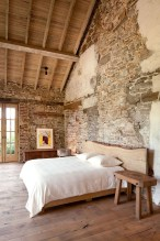 Elegant Rustic Bedroom Brick Wall Decoration Ideas 50