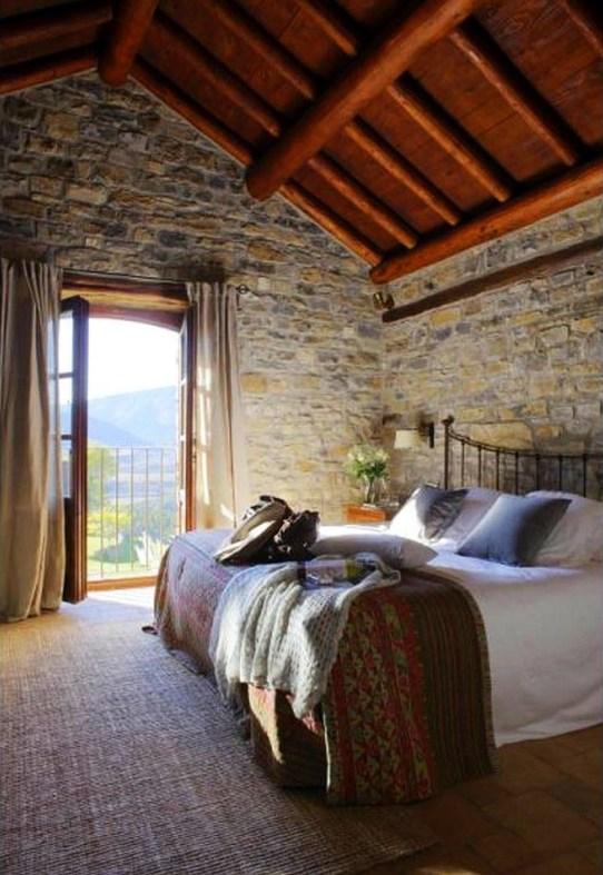 Elegant Rustic Bedroom Brick Wall Decoration Ideas 53
