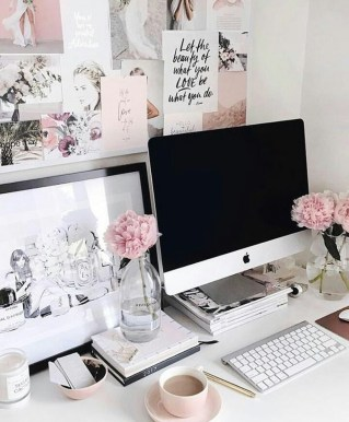 Elegant And Exquisite Feminine Home Office Design Ideas 07