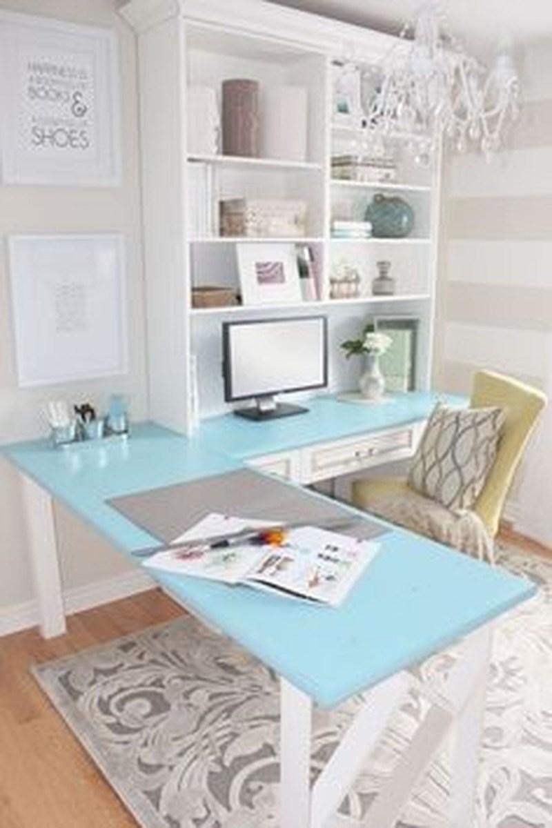Elegant And Exquisite Feminine Home Office Design Ideas 11