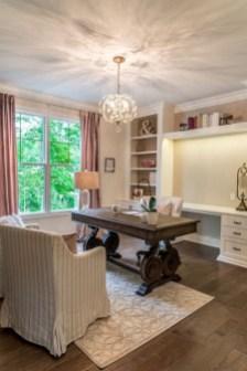 Elegant And Exquisite Feminine Home Office Design Ideas 12