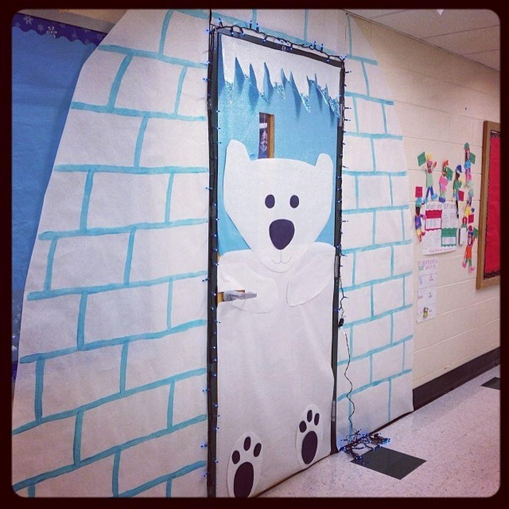 Adorable Winter Classroom Door Decoration Ideas 09