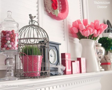 Cute Pink Valentines Day Decoration Ideas For Your Home 03