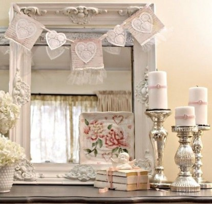 Cute Shabby Chic Valentines Decoration Ideas For Your Home 30