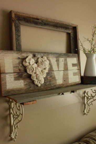 Cute Shabby Chic Valentines Decoration Ideas For Your Home 36