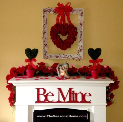 Inspiring Valentines Day Fireplace Decoration Ideas 26