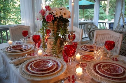 Romantic Valentines Day Dining Room Decoration Ideas 01