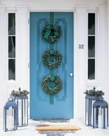 Stunning Front Door Decoration Ideas For Winter 20