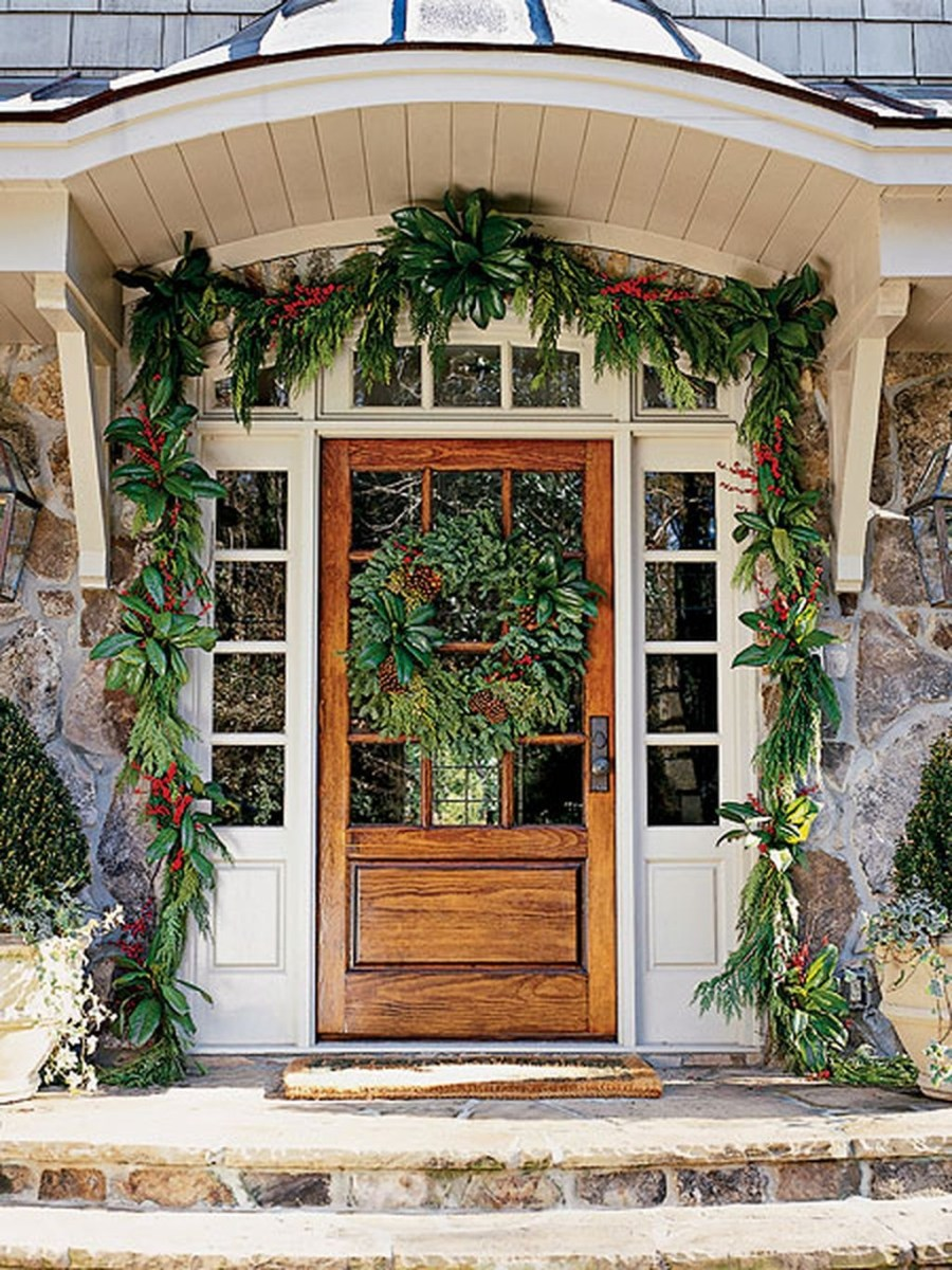 Stunning Front Door Decoration Ideas For Winter 26
