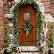 Stunning Front Door Decoration Ideas For Winter 30