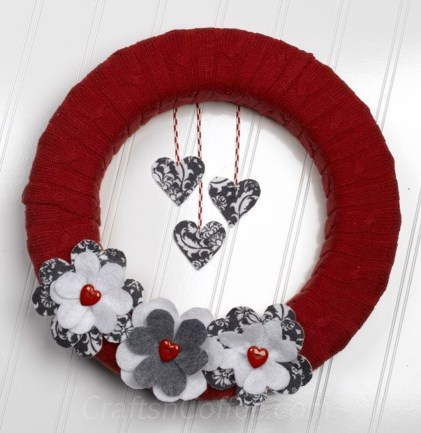Totally Adorable Wreath Ideas For Valentines Day 12