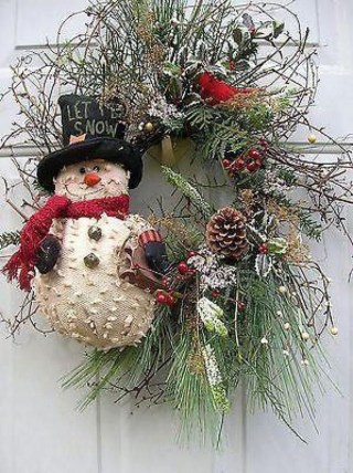 Totally Inspiring Winter Door Decoration Ideas 09