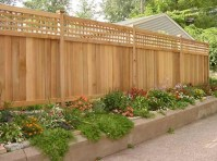 Adorable Wooden Privacy Fence Patio Backyard Landscaping Ideas 04
