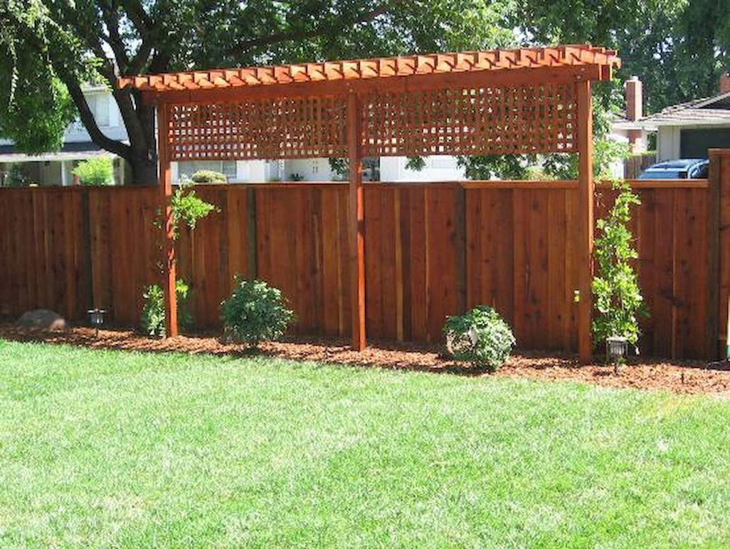 Adorable Wooden Privacy Fence Patio Backyard Landscaping Ideas 05