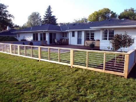 Adorable Wooden Privacy Fence Patio Backyard Landscaping Ideas 15