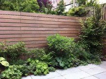 Adorable Wooden Privacy Fence Patio Backyard Landscaping Ideas 17